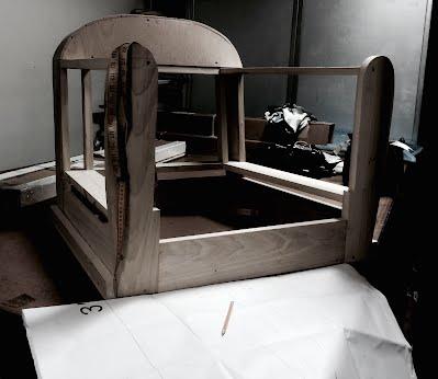 BrooklynWorkroom.com Custom Built Lounge Chair Frame!