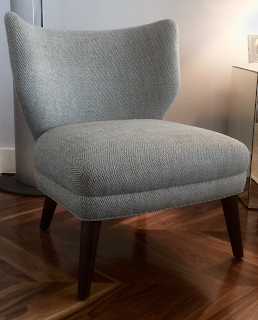 Brooklyn Workroom Recover Reupholster West Elm Wing Chair Linen