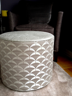 Brooklyn Workroom - Custom made drumb pouf ottoman