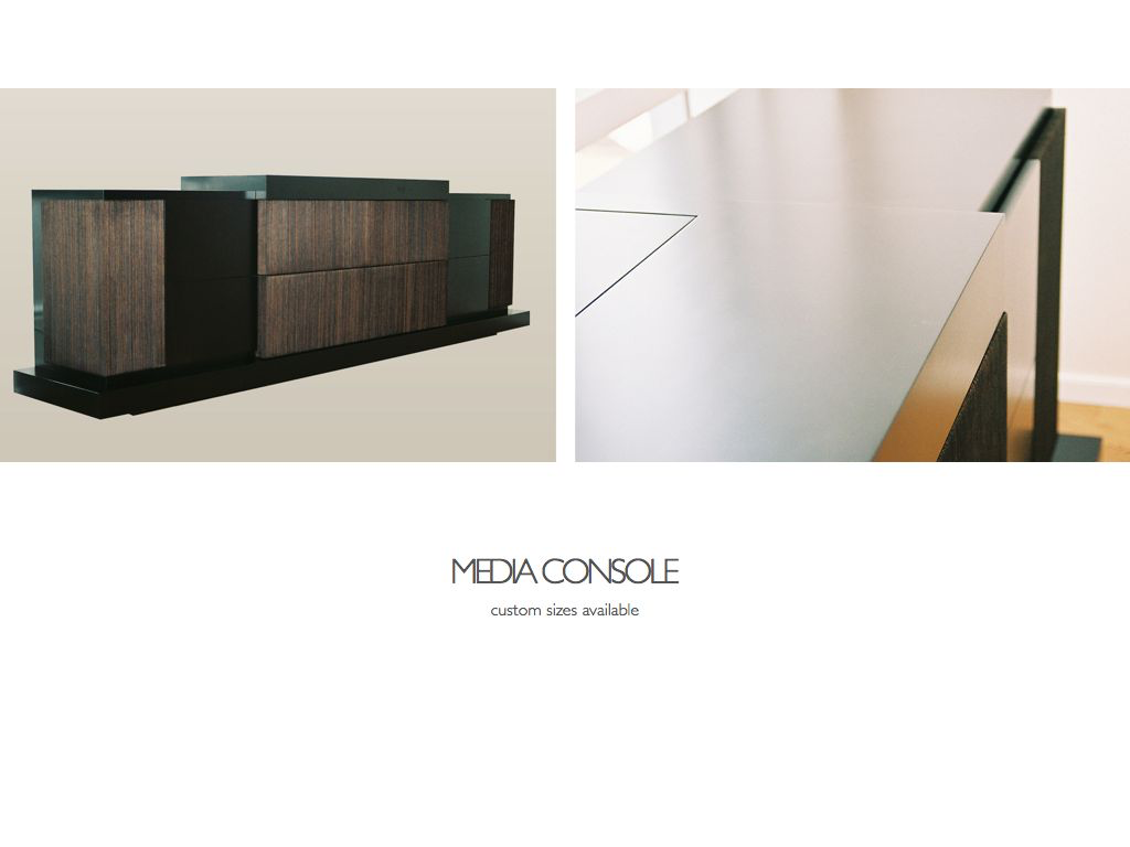 Brooklyn Workroom Custom Made Fabricated Furniture - Media Console