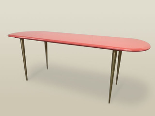 CVH INTERIORS/CVF&I Table 002 Fabricated by Brooklyn Workroom